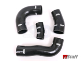 Forge - Silicone Boost Hose Kit -Black - TTS Mk3