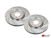 Zimmermann - Cross Drilled Rotors-Front Set-180 225