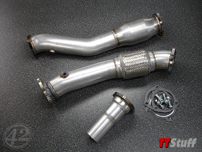 42 Draft Designs - 3'' Downpipe - Street - TT 180Q