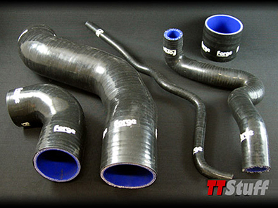 Forge-Silicone Turbo Hoses-5 Piece Kit-TT 180 AWP-Black