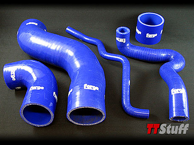 Forge-Silicone Turbo Hoses-5 Piece Kit-TT 180 AWP-Blue