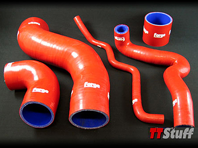 Forge-Silicone Turbo Hoses-5 Piece Kit-TT 180 AWP-Red