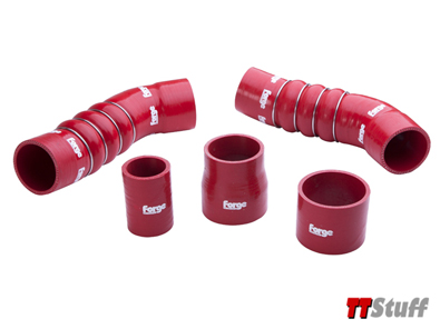 Forge - Silicone Boost Hose Kit - Red - TT RS