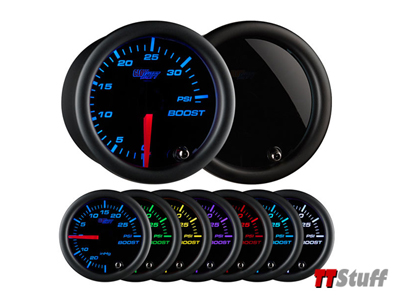 GlowShift-Tinted 7 Color 35 PSI Boost Gauge