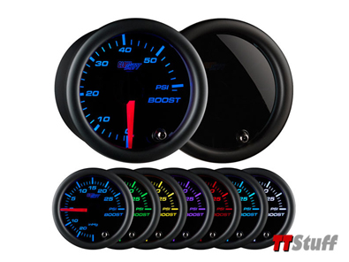 Glowshift - Tinted 7 Color 60 PSI Boost Gauge
