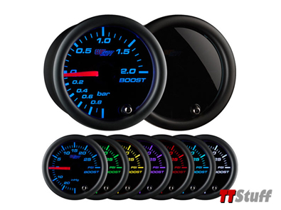 GlowShift-Tinted 7 Color BAR Boost/Vac Gauge