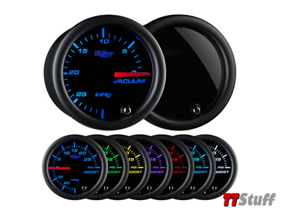 Glowshift - Tinted 7 Color Vacuum Gauge