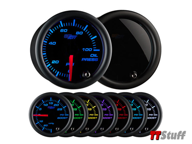 Glowshift - Tinted 7 Color Oil Pressure Gauge