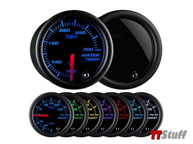 Glowshift - Tinted 7 Color Water Temp Gauge