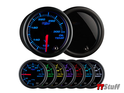 Glowshift - Tinted 7 Color Oil Temperature Gauge