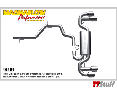MagnaFlow - Cat-Back Exhaust - TTS Mk2