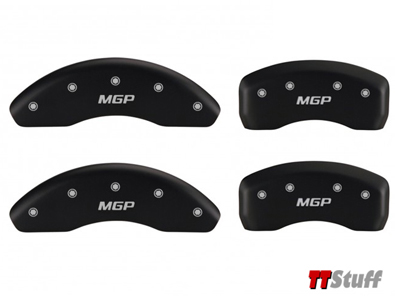 MGP - Calilper Cover Set-Matte Black/Silver - TT 180 225