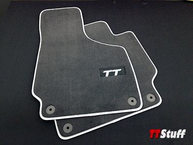 Audi - Carpeted Floor Mats - TT Logo - TT Mk2 - Black