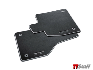 Audi-Carpeted Floor Mats-TT Logo-TT Mk3-Black