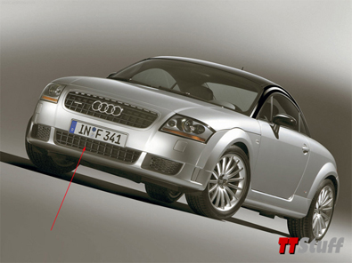OEM - New Style TT 3 Bar Lower Center Grille