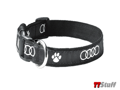 Audi - Fabric Dog Collar - Audi Rings/Pawprint