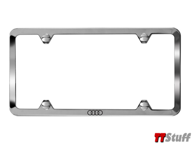 Audi - Slimline License Plate Frame - Polished
