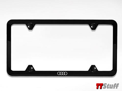 Audi - Slimline License Plate Frame - Black