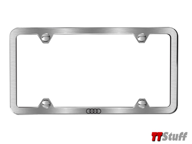 Audi - Slimline License Plate Frame - Brushed