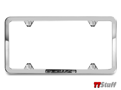 Audi - License Plate Frame - quattro - Polished