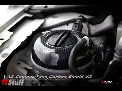 OSIR - Coolant Tank Carbon Shield V2 - Gloss