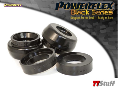 PowerFlex Polyurethane Front Strut Top Mount Bushings 10mm Lowering Black Series