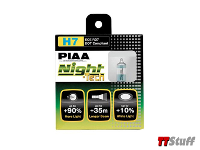 PIAA - Night Tech Bulbs - H7 55W - Twin Pack