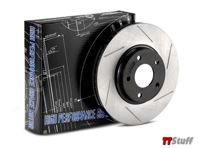 Power Slot-Slotted Brake Rotors-Rear Set-180 FWD