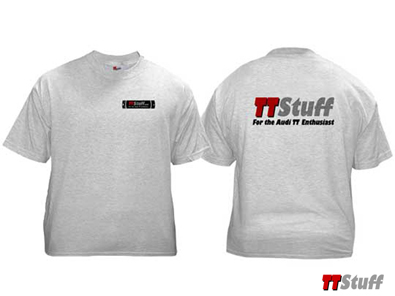 TT Stuff Gear - Ash Grey T-Shirt - SG1 - Large