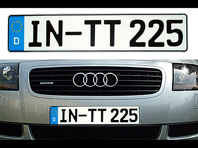 German Euro License Plate - Custom Plate with License Plate Frame & Audi TT Stuff: German Euro License Plate - Custom Plate with License ...