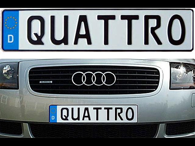 Audi TT Stuff: German Euro License Plate - Custom Plate with License ...