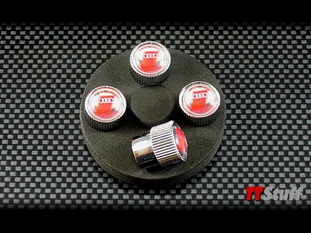 Tire Valve Stem Cap-Valve Stem Caps Red Audi Sport Logo AUDI OEM ZAW-355-000AS