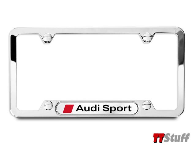 Audi TT Stuff: Audi - License Plate Frame - Audi Sport - Polished ...