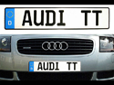 German Euro License Plate - Custom Plate with License Plate Frame