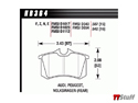 Hawk - HPS Brake Pads - Rear - 180 225 3.2