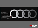 Genuine Audi - Rings Appliques - Silver